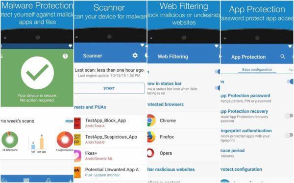 Antivirus Android gratis Sophos Mobile Security